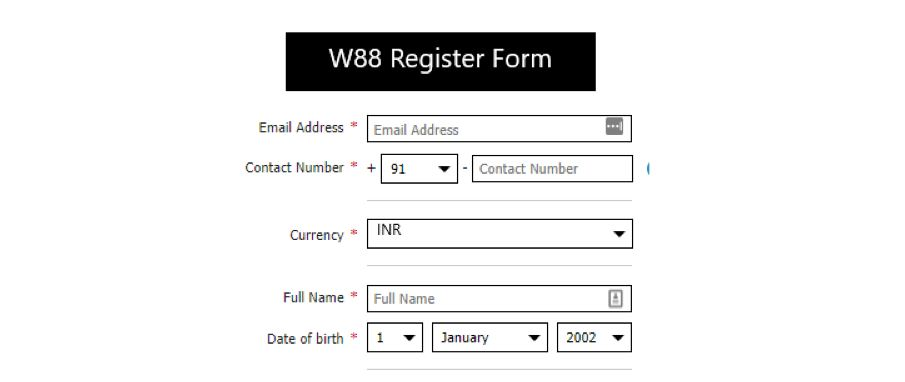 Follow the Easy Steps Below to Register W88 - Step 2