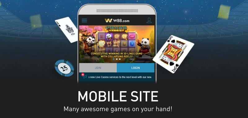 W88 In Mobile Experience Play Anytime Anywhere