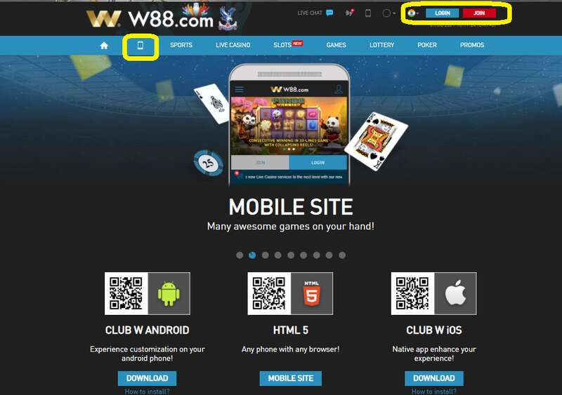 Go Mobile with App Download of Club W88 iOS and Android