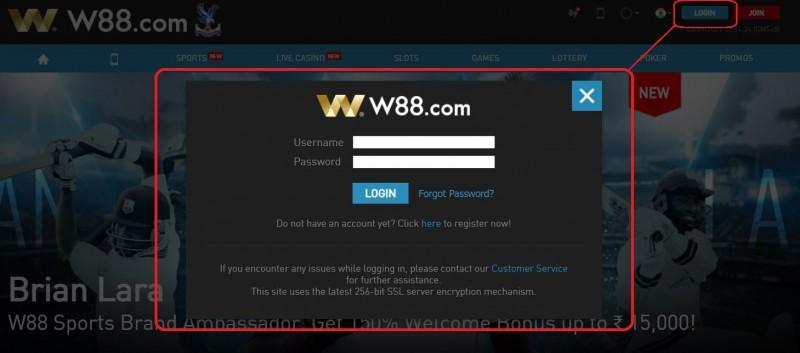 W88 Login Dashboard Featured Image